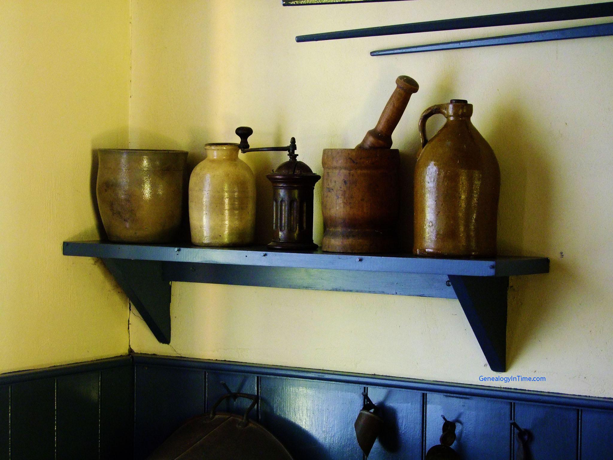 Kitchen Shelf Containers On Kitchen Shelfjpg