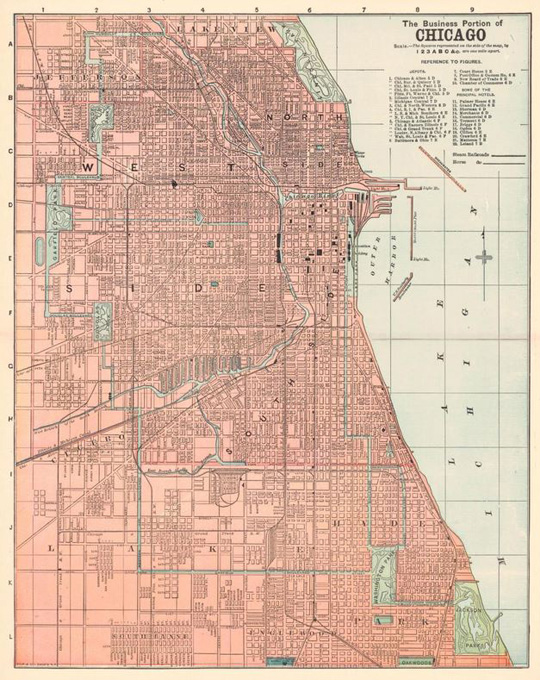 1892 Chicago map