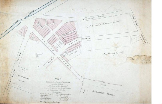 Dublin historic map
