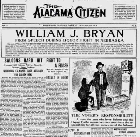 Alabama newspaper 1913