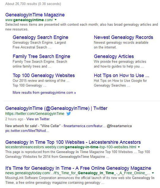 Google Limitations on Genealogy Searches