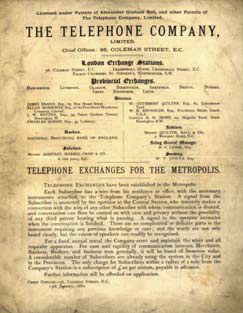 UK 1880 telephone book