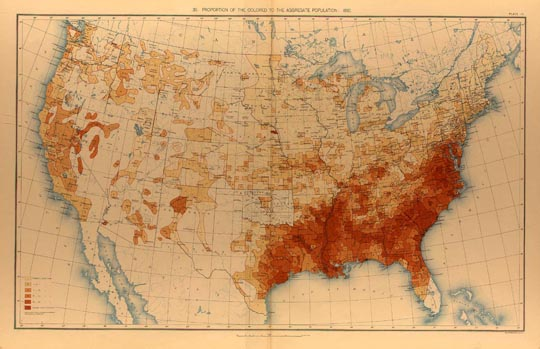 African American population density