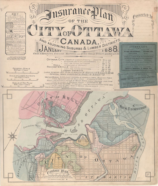 Ottawa fire insurance maps