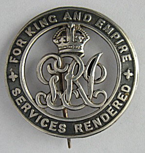 Silver War Badge from World War I