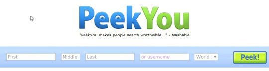 peekyou people search engine