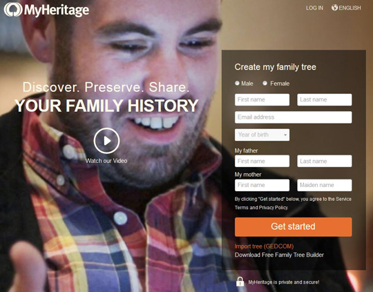 myheritage website march 2016