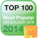 top 100 genealogy website 2014