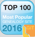 top 100 genealogy websites 2016