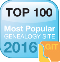 top 100 genealogy website 2016